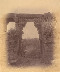 Ancient gateway on the hill, Mandhata.